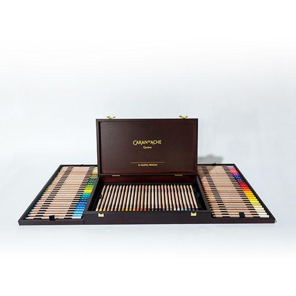 caran-dache-pastel-pencils-84pc-wooden-box-set-open