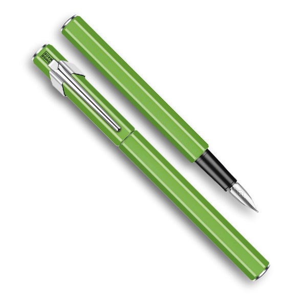 849-Metal-Fountain-Green-Pen-Caran-dAche