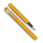 849-Metal-Fountain-Orange-Pen-Caran-dAche