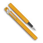 849-Metal-Fountain-Orange-Pen-Caran-dAche