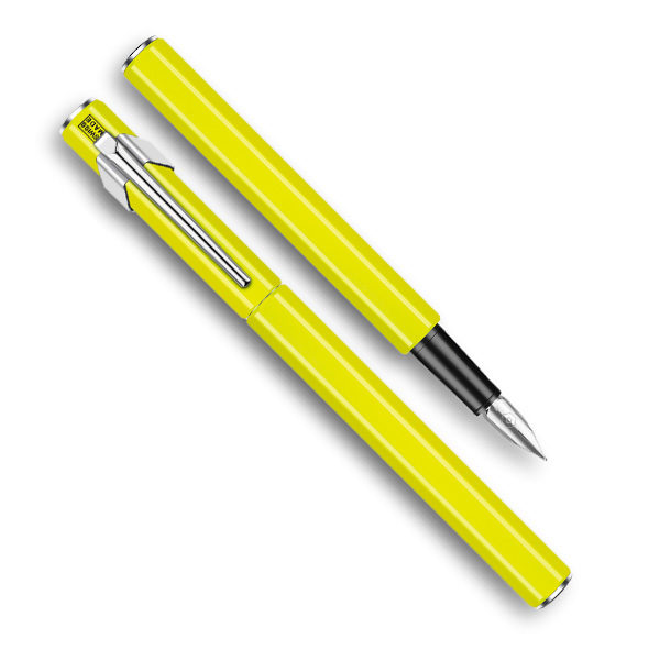 849-Metal-Fountain-Yellow-Pen-Caran-dAche