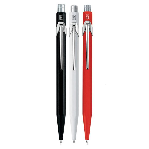 Caran-dAche-Mechanical-Black-White-&-Red-Pencils