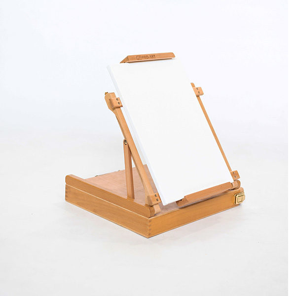 KB2003-Beech-Easel-Side-View-with-a-canvas-on