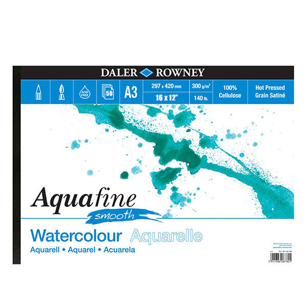 daler-rowney-aquafine-smooth-watercolour-16x12-pad-50-sheets