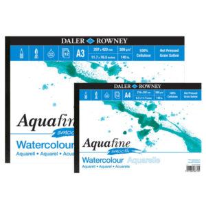 Aquafine-Jumbo-Watercolour-Pads-Daler-Rowney-Smooth-A4-&-A3