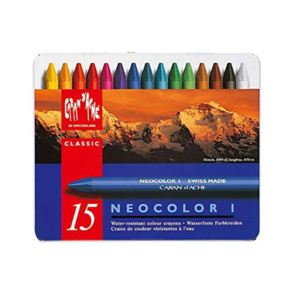 Caran-DAche-Neocolor-I-Water-Resistant-Wax-Oil-Pastels-15-set