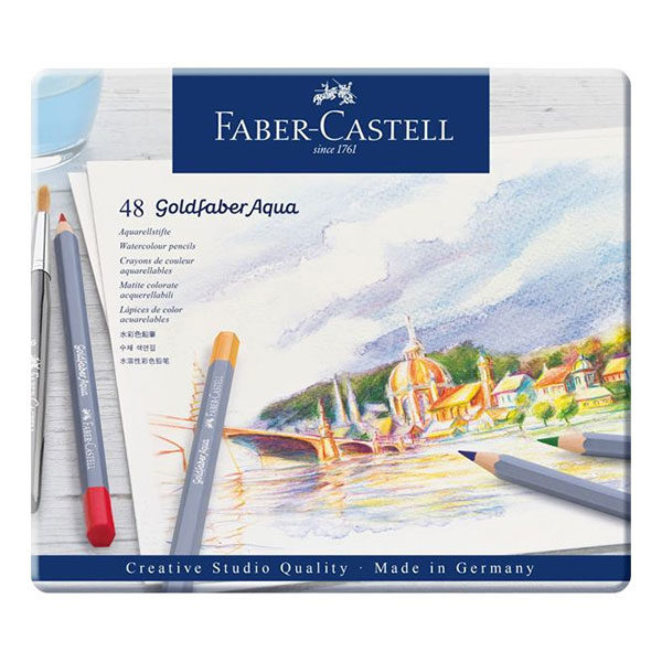 Goldfaber-Aqua-Watercolour-Pencil-48-Tin-Sets-Faber-Castell