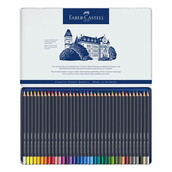 Goldfaber-Colour-Pencil-36-Tin-Sets-Faber-Castell-Open