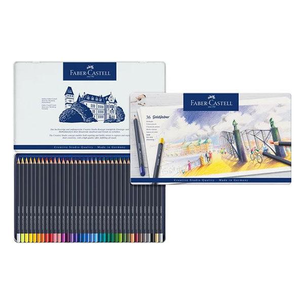 Goldfaber-Colour-Pencil-36-Tin-Sets-Faber-Castell-Open-Collage