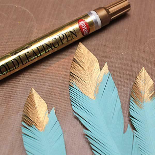 Leafing-Pens-Copper-Krylon-Feathers