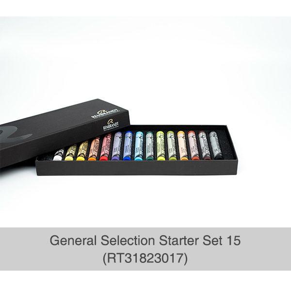 Rembrandt-Soft-Pastels-General-Selection-15-Set-Open-Box-showing-pastels