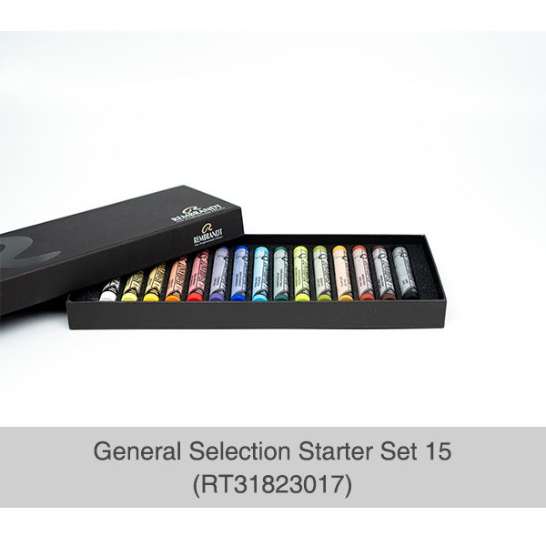 Rembrandt-Soft-Pastels-General-Selection-15-Set-Open-Box-showing-pastels