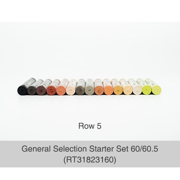 Rembrandt-Soft-Pastels-General-Selection-Starter-Set-60&60,5-Pastels-Row-5