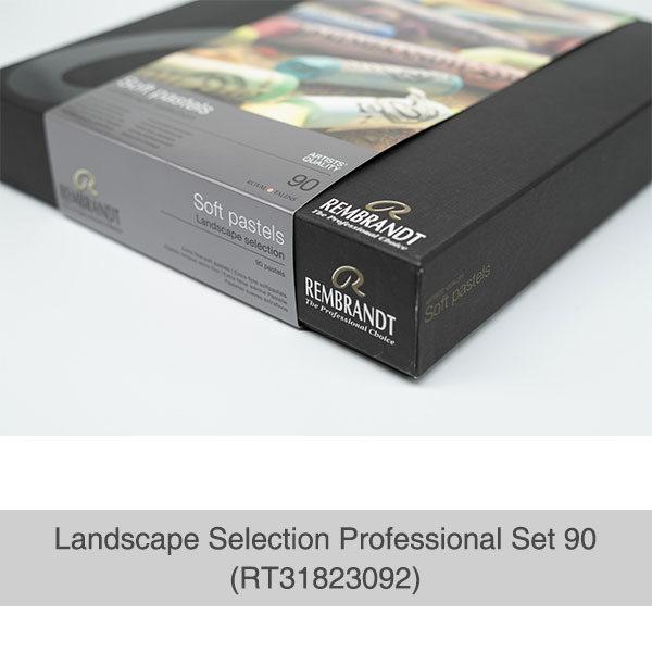 Rembrandt-Soft-Pastels-Landscape-Selection-Professional-90-Set-Box-Corner-View