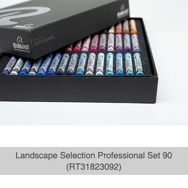 Rembrandt-Soft-Pastels-Landscape-Selection-Professional-90-Set-open-box-with-trays-of-pastels