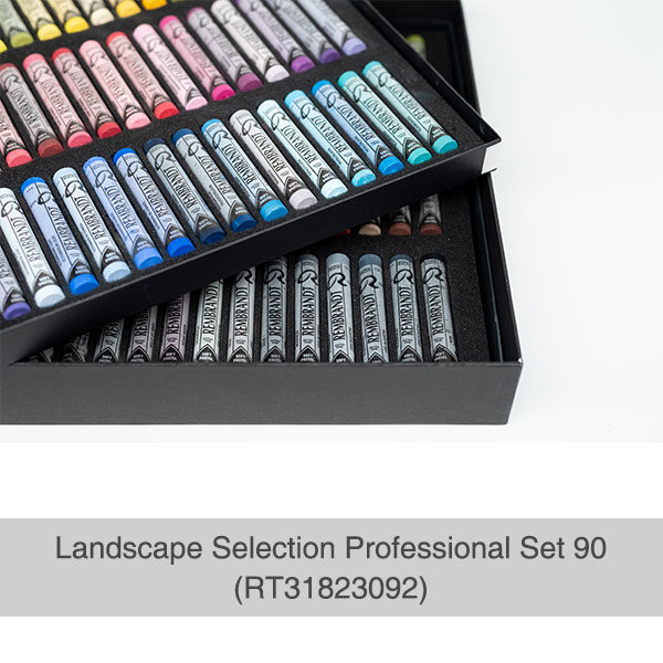 Rembrandt-Soft-Pastels-Landscape-Selection-Professional-90-Set-open-box-with-trays-of-pastels-top-view