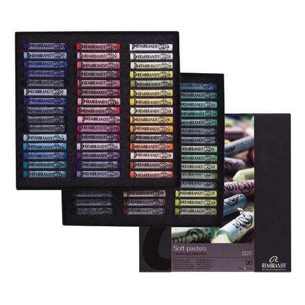 Rembrandt-soft-pastels-landscape-selection-Professional-set-300C90L