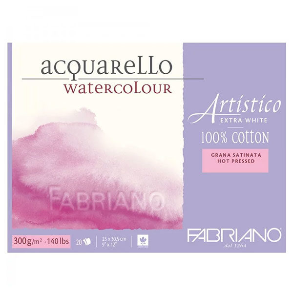 Acquarello-Watercolour-Artistico-Pads-300gsm-Fabriano-Hot-Pressed