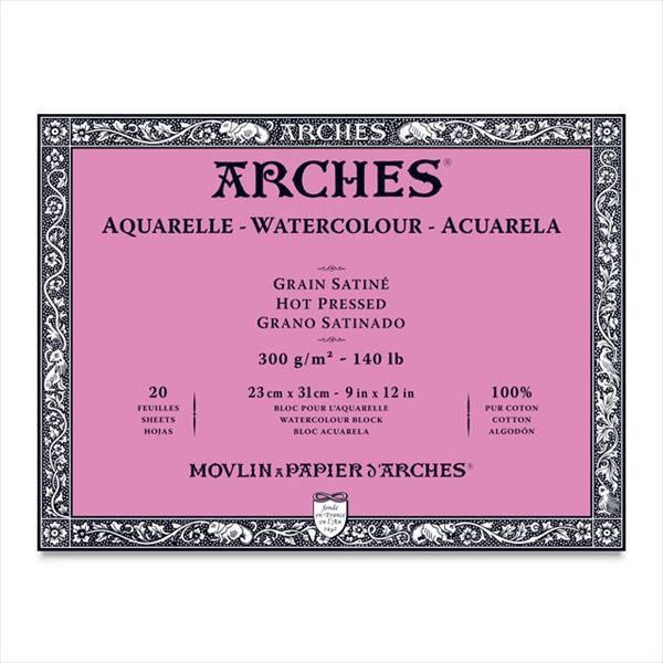 Aquarelle-Watercolour-Blocks-ARCHES-Hot-Pressed
