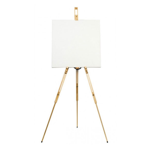 Artists-Tripod-Easel-Mont-Marte-with-Canvas-on
