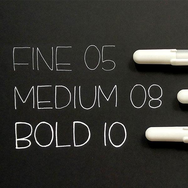 Gelly-Roll-3-Pen-Set-White-Fine-Medium-Bold-Sakura-Samples