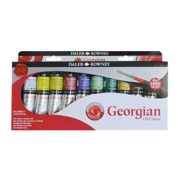 Georgian-Oil-Colour-Studio-Set-10-x-38ml-Tubes-Daler-Rowney