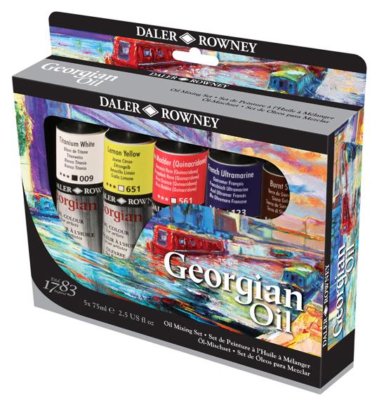 Georgian Oil Mixing Set of 5