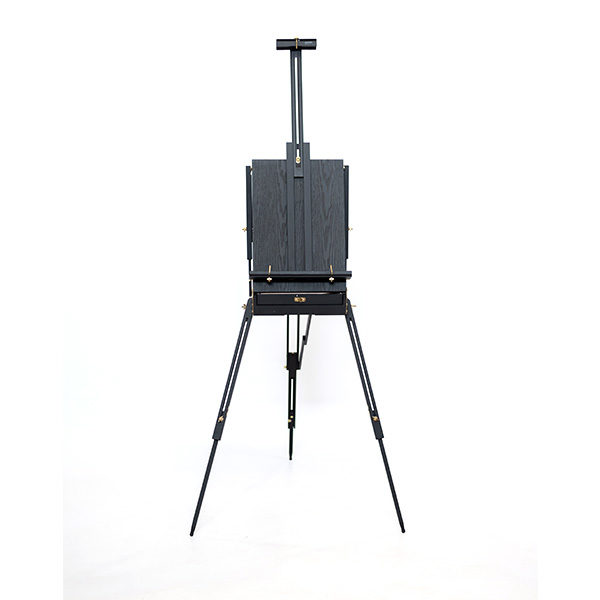 Mont-Marte-Black-French-Box-Easel-folded-open-front-view