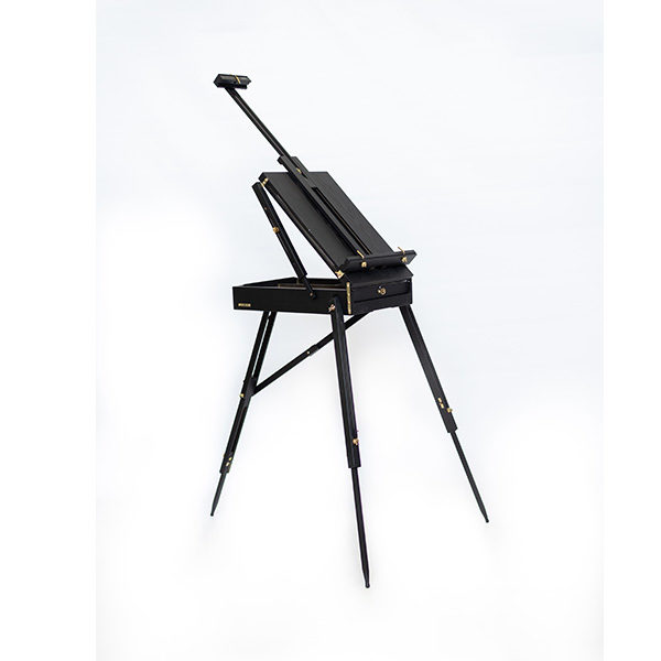 Mont-Marte-Black-French-Box-Easel-folded-open-side-view-02