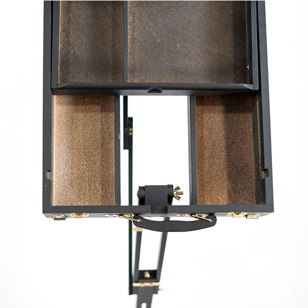 Mont-Marte-Black-French-Box-Easel-folded-open-top-view-02