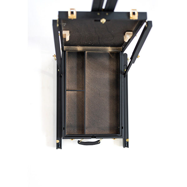 Mont-Marte-Black-French-Box-Easel-folded-open-top-view