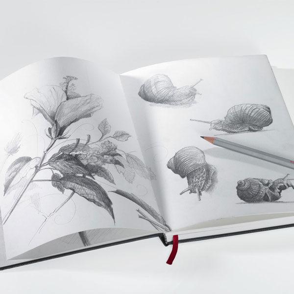 Nostalgie-Sketchbook-190gsm-Hahnemuhle-Open-book-with-artwork2
