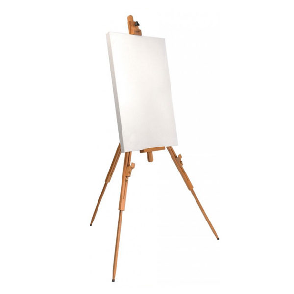 Tripod-Easel-Heavy-Duty-Mont-Marte-with-canvas