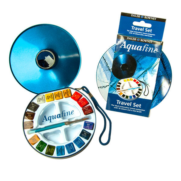 Watercolour-Aquafine-Travel-Tin-18-Set-Daler-Rowney