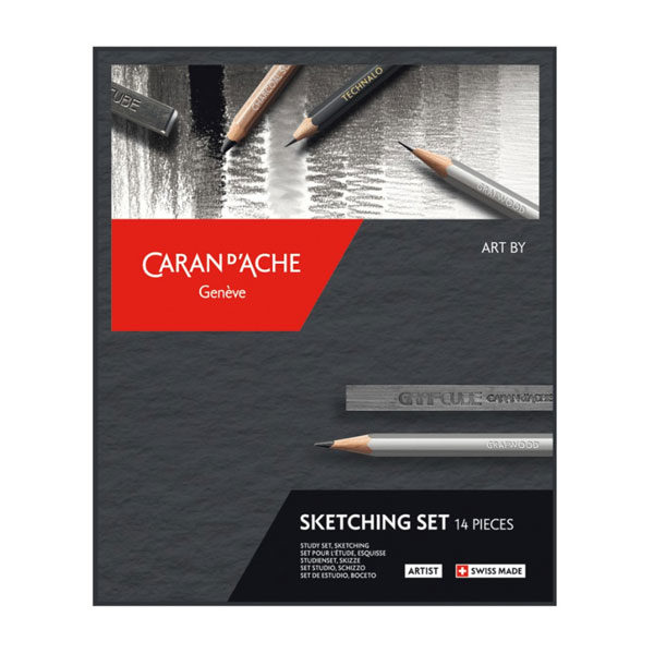 Artist-Art-by-Sketching-14pc-Caran-dAche-Front
