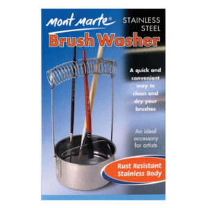 Brush-Washer-Stainless-Steel-Mont-Marte-Front