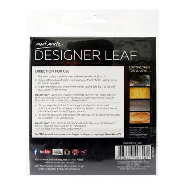 Copper-Starburst-Back-Designer-Leaf-14cm-8-sheets-Mont-Marte