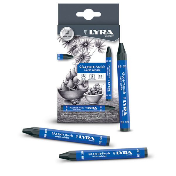 Graphite-Crayons-Water-Soluble-Lyra