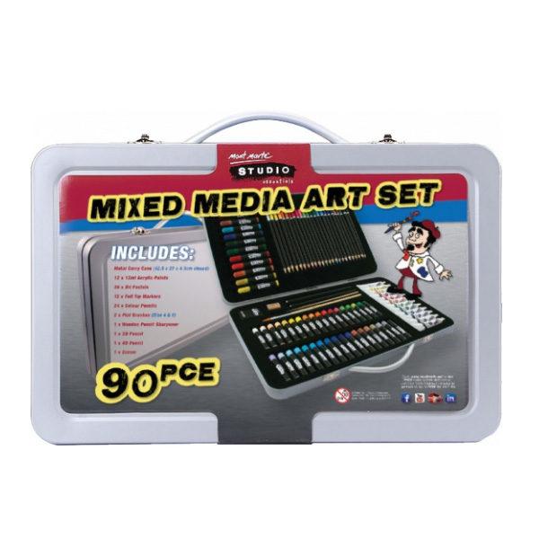 Studio-Essentials-Mixed-Media-Art-Set-90-Piece-Mont-Marte-Case-Closed