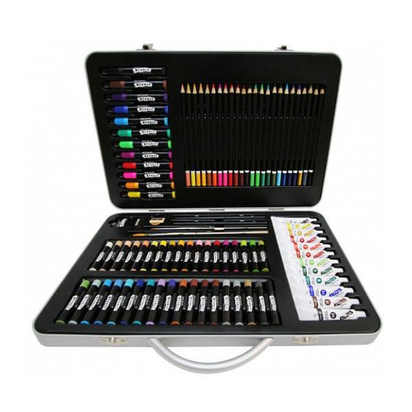 Studio-Essentials-Mixed-Media-Art-Set-90-Piece-Mont-Marte-Case-Front-View