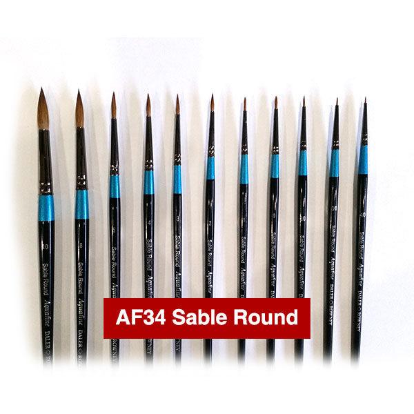 AF34-Sable-Round-Aquafine-Watercolour-Brushes-Daler-Rowney
