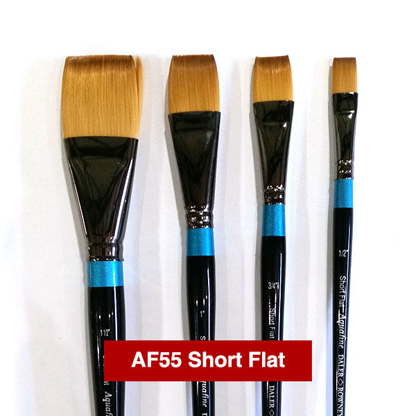 AF55-Short-Flat-Aquafine-Watercolour-Brushes-Daler-Rowney