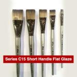 Daler-Rowney-Series-C15-Short-Handle-Flat-Glaze-Brushes