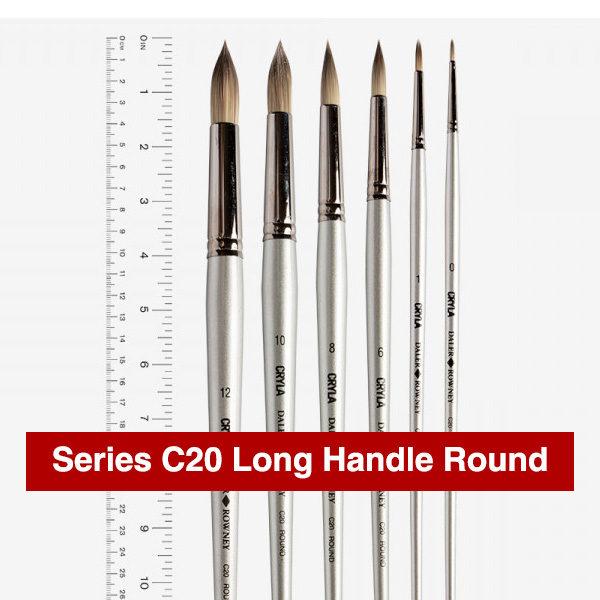 Daler-Rowney-Series-C20-Long-Handle-Round-Brushes