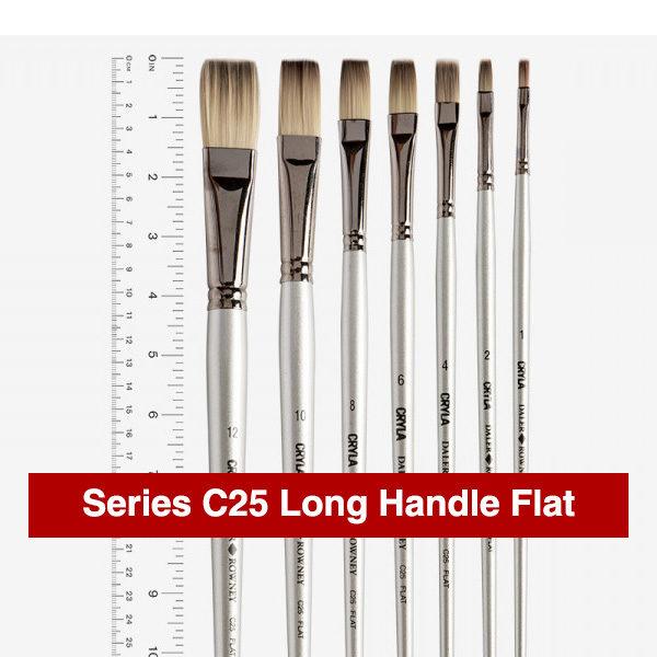 Daler-Rowney-Series-C25-Long-Handle-Flat-Brushes