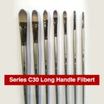 Daler-Rowney-Series-C30-Long-Handle-Filbert-Brushes