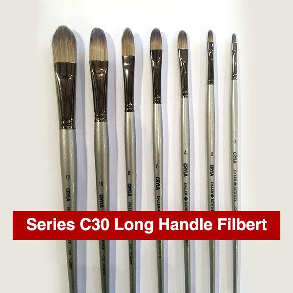 Daler-Rowney-Series-C30-Long-Handle-Filbert-Brushes