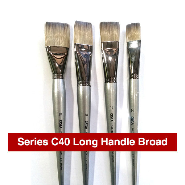 Daler-Rowney-Series-C40-Long-Handle-Broad-Brushes