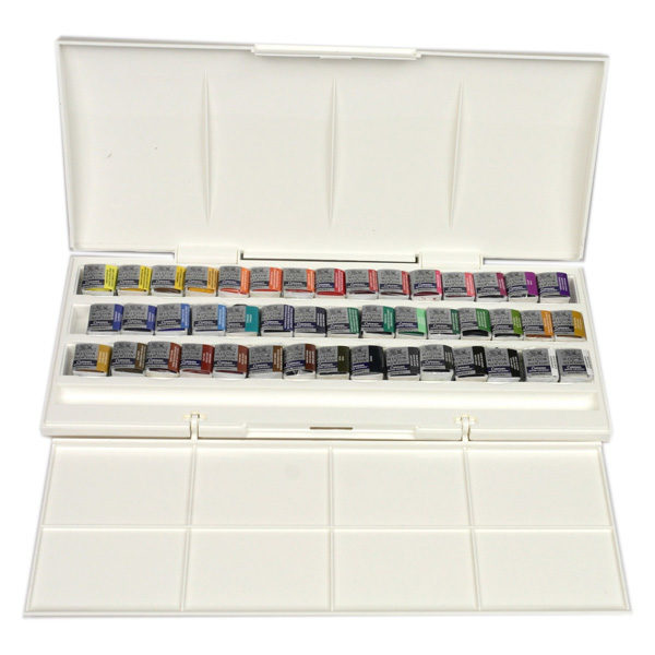 Cotman-Water-Colours-Half-Pan-Studio-Set-45-Half-Pans-Winsor-&-Newton-Open