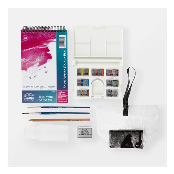 Cotman-Water-Colours-Travel-Bag-Winsor-&-Newton-Contents